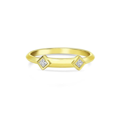 Diamond Nameplate Gold Ring
