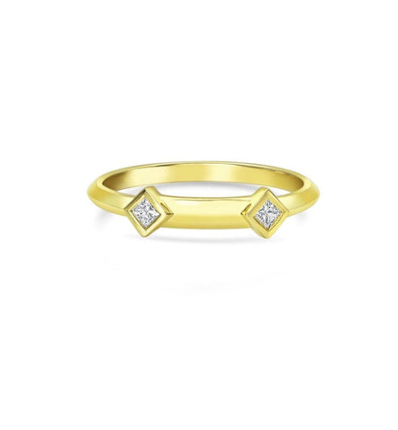 Princess Cut Diamond Gold Studs