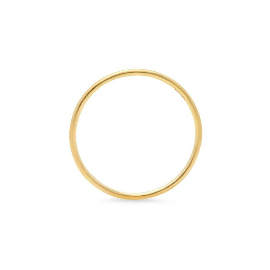 Narrow Yellow Gold Ring - Curated Los Angeles
