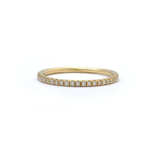 Pave Diamond Yellow Gold Eternity Ring - Curated Los Angeles