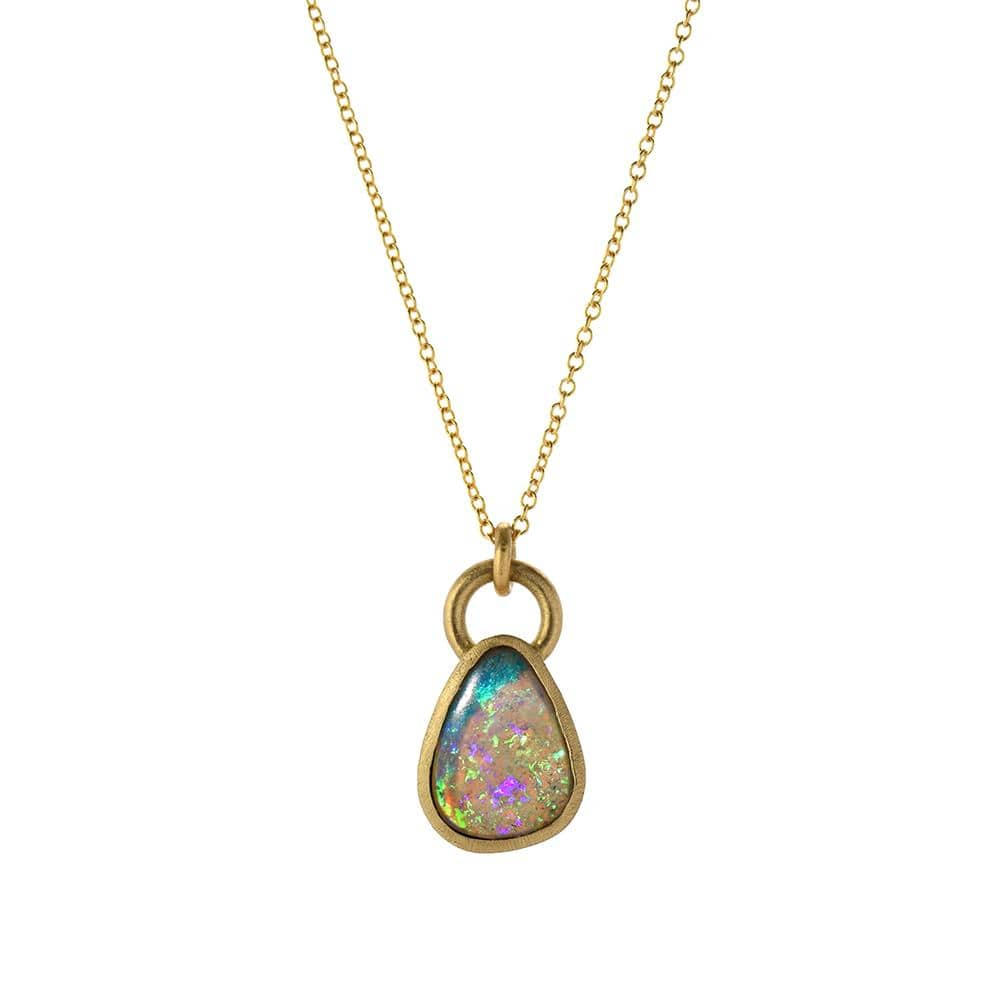 Opal Yellow Gold Pendant