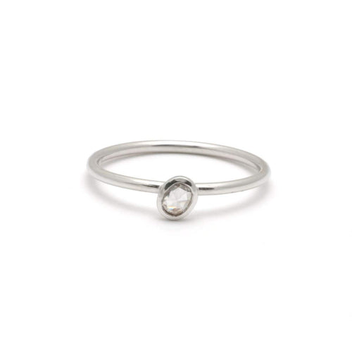 Oval Diamond White Gold Bezel Solitaire Ring
