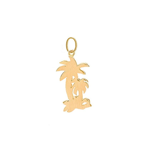 Palm Tree Charm Yellow Gold