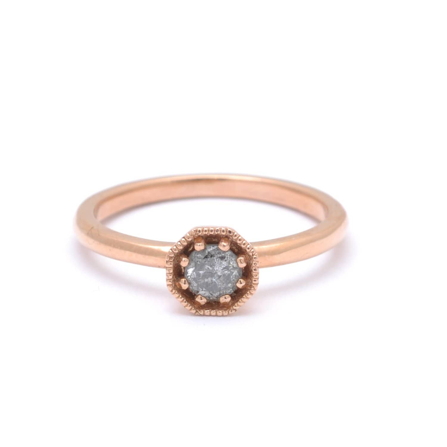 2e08f31838658 Salt and Pepper Grey Rose Gold Ring