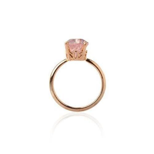 Rose Quartz Pear Shape Ring