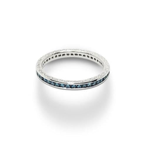 Sapphire White Gold Eternity Ring