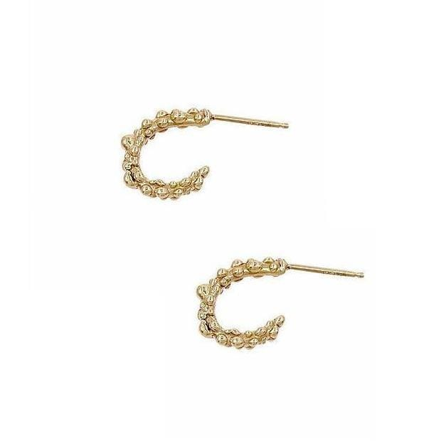 Mini Sea Creature Yellow Gold Hoops - Curated Los Angeles