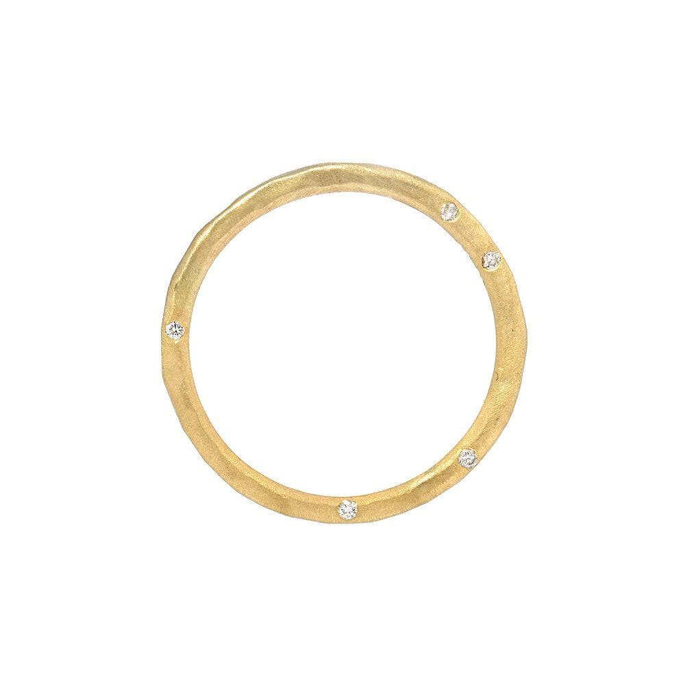 Side Set Diamond Gold Ring - Curated Los Angeles