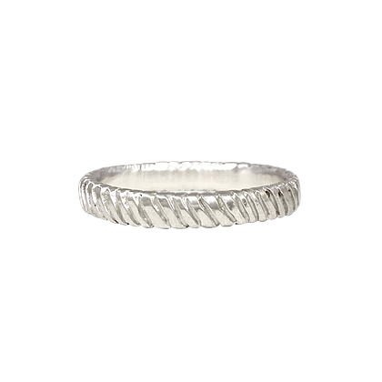 "Sterling Silver ""Currents"" Stacking Ring"