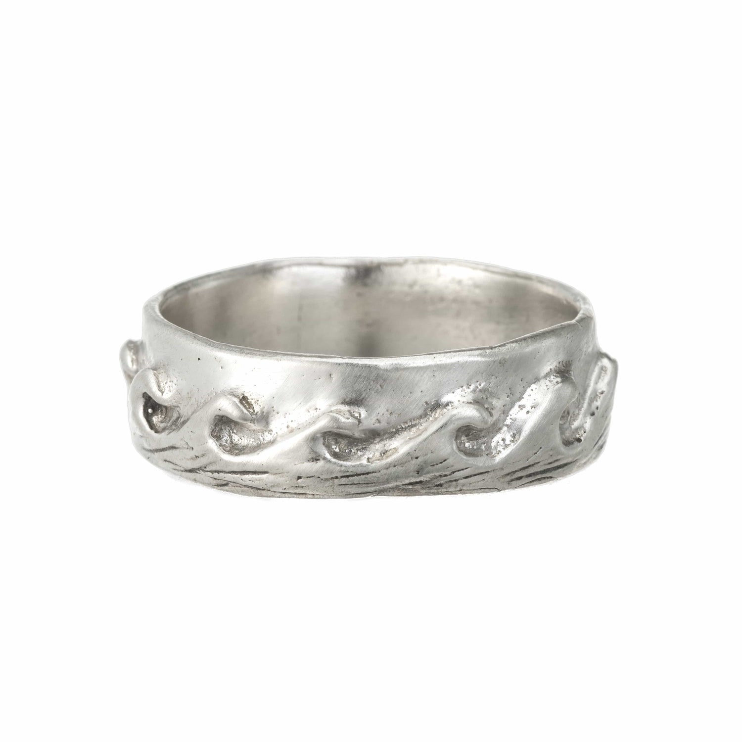 "Sterling Silver ""Rising Tide"" Stacking Ring"