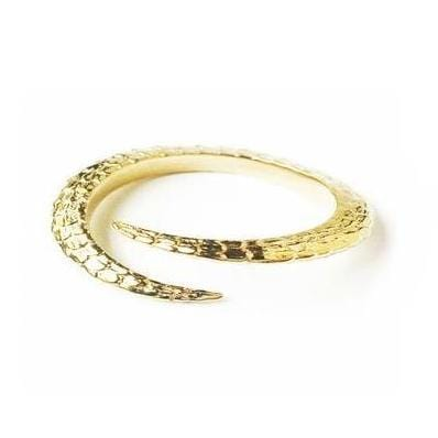 Single Claw Gold Plated Bangle - Curated Los Angeles