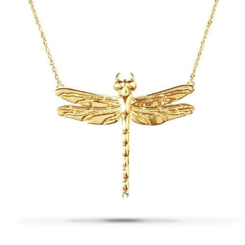 544a7d793 Small Dragonfly Yellow Gold Necklace – Curated Los Angeles