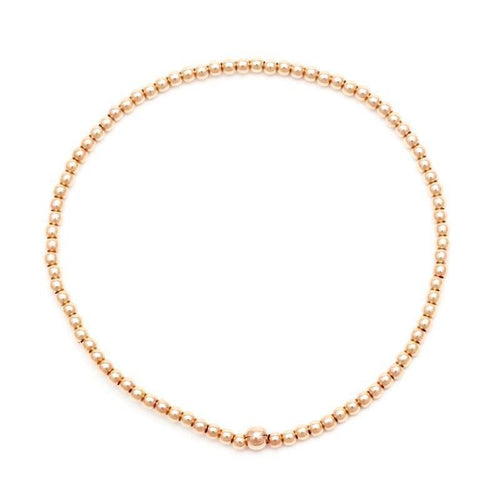 Karen Lazar 2mm Rose Gold Bead Layering Bracelet - Curated Los Angeles