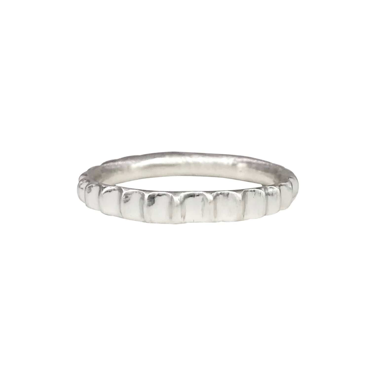 "Sterling Silver ""Ripples"" Stacking Ring"