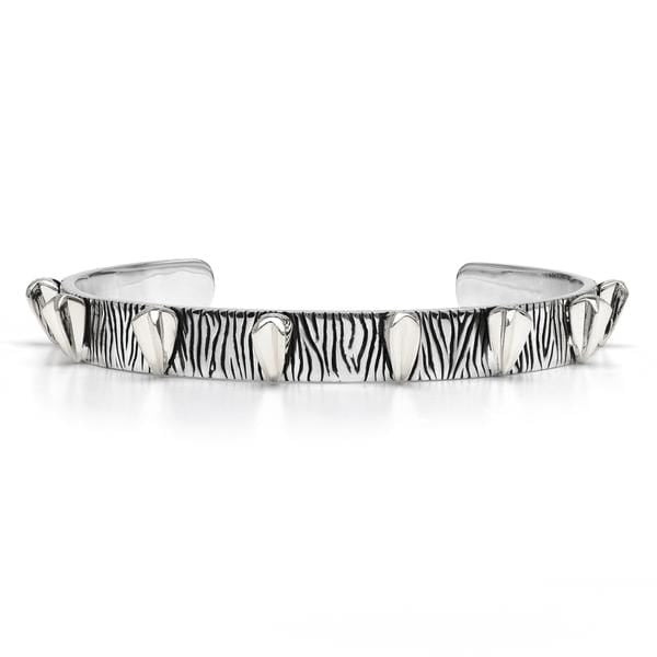 Spear Design Oxidized Silver Cuff Bracelet - Curated Los Angeles