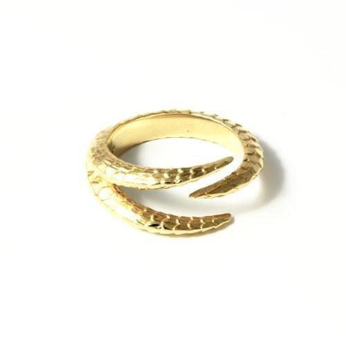 Triple Claw 14k Yellow Gold Ring - Curated Los Angeles