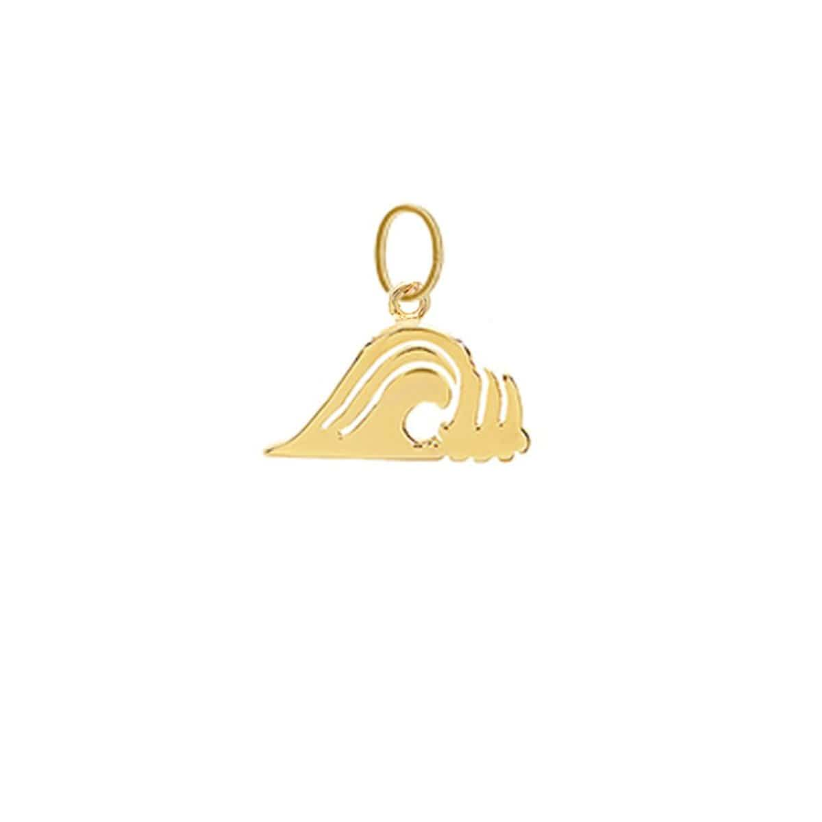 Wave Charm Yellow Gold Caitlin Nicole