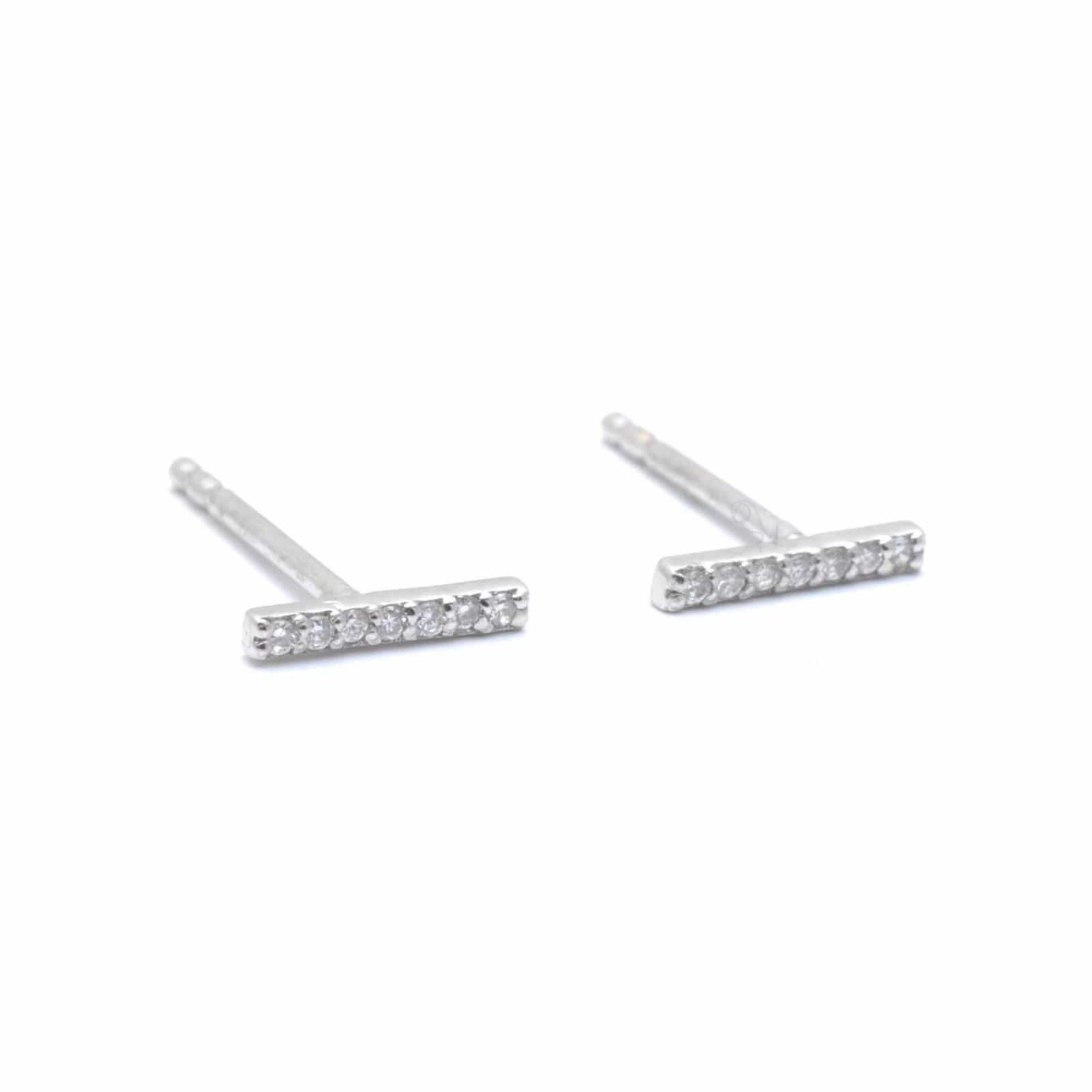 Diamond White Gold Pave Bar Suds
