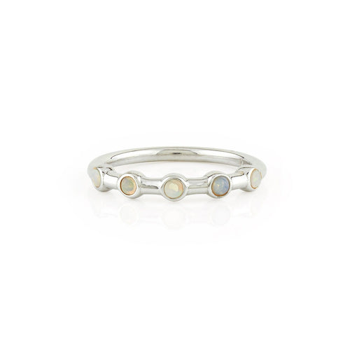 Opal Five Station Stacking Ring