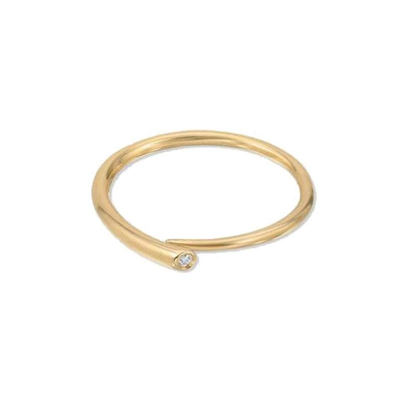 Yellow Gold Diamond Tusk Ring