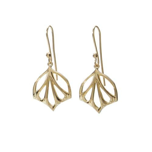 Gold Fan Earrings