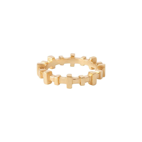 18k yellow gold alternative wedding ring