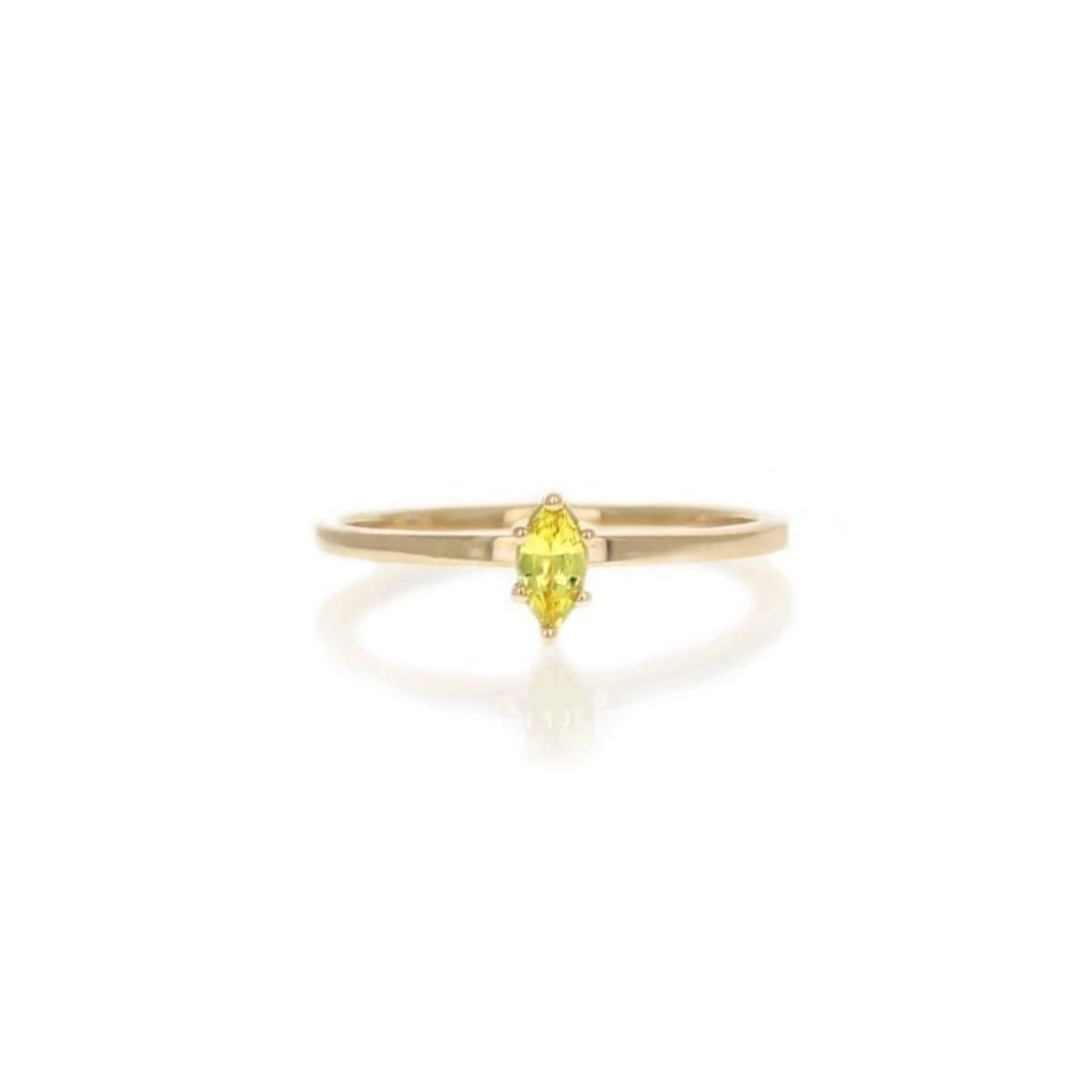 Yellow Sapphire Marquise Ring
