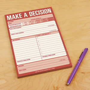 "Bloc de notas ""Make a decision"""
