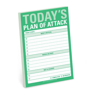 "Bloc de notas autoadhesivas ""Today's Plan of Attack"""