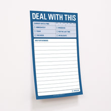 "Bloc de notas autoadhesivas ""Deal with this"""