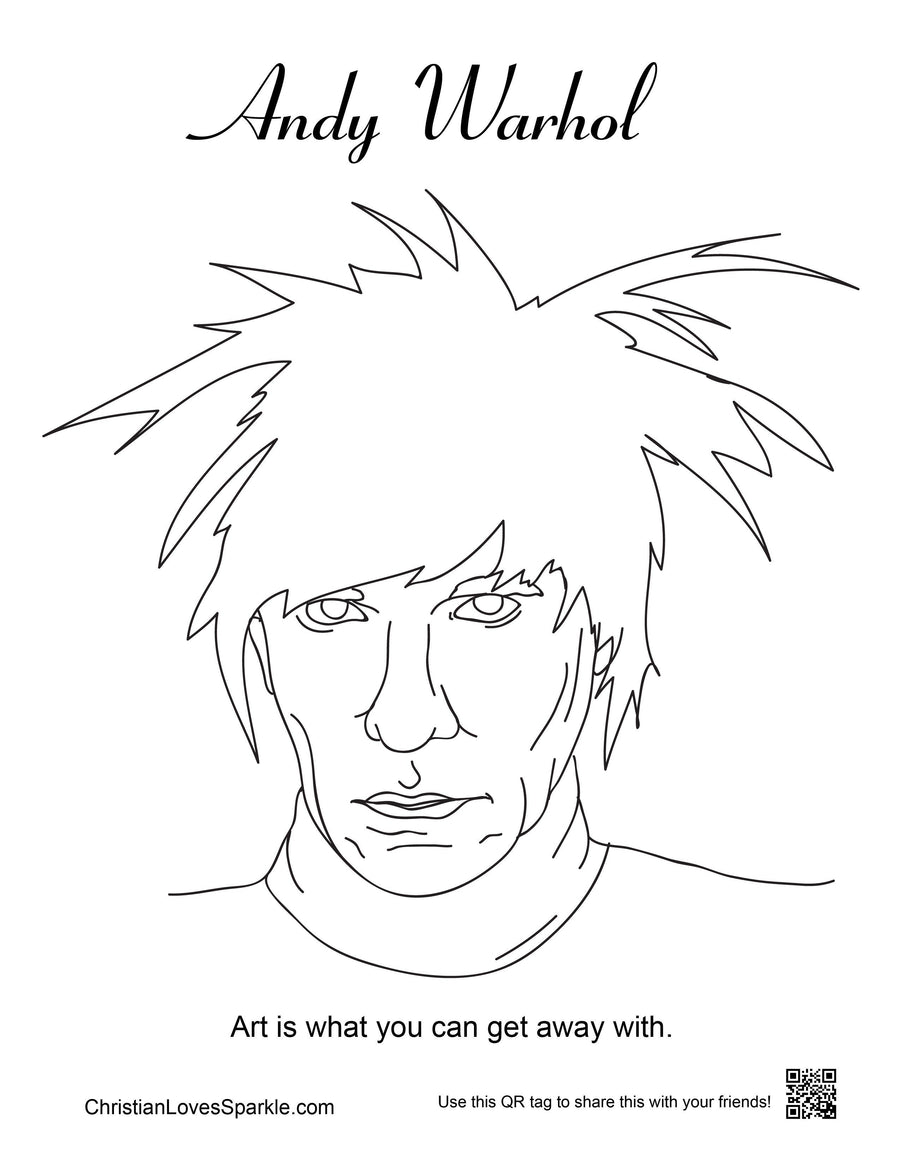ANDY WARHOL | Andy Warhol Coloring Book