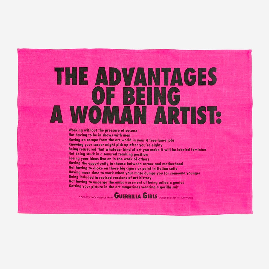Advantages of Being a Woman Artist Tea Towel x GUERRILLA GIRLS