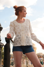Blouse Anja - réversible - broderie anglaise - made in France