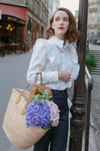Blouse Galya - coton broderie anglaise - made in France