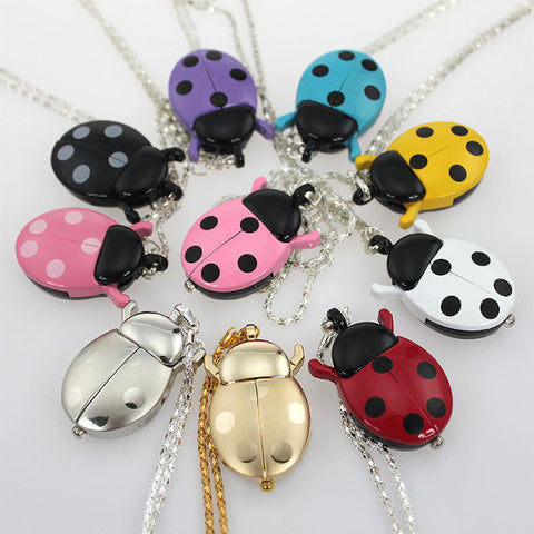 Montre collier coccinelle - 9 couleurs