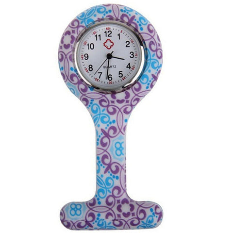 Montres broche silicone infirmière - motifs oriental