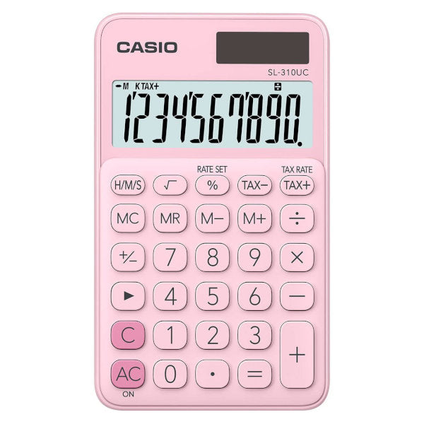 Calculatrice de poche CASIO SL-310UC-PK Rose