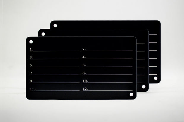 Mnemonic Phrase Stack Plate - Three Pack