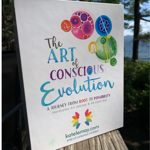 The Art of Conscious Evolution- A Journey from Root to Possibility, Hardcover Journal & 49 Card Set