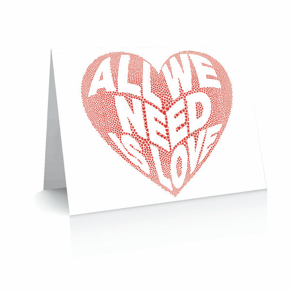 All We Need is Love Greetinng Card | Polycute Gift Shop