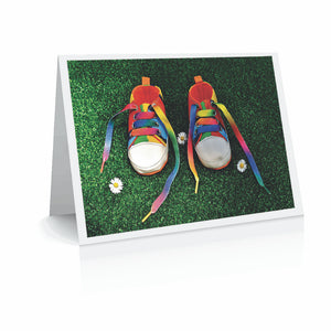 New Baby - Pride Shoes Greetinng Card | Polycute Gift Shop