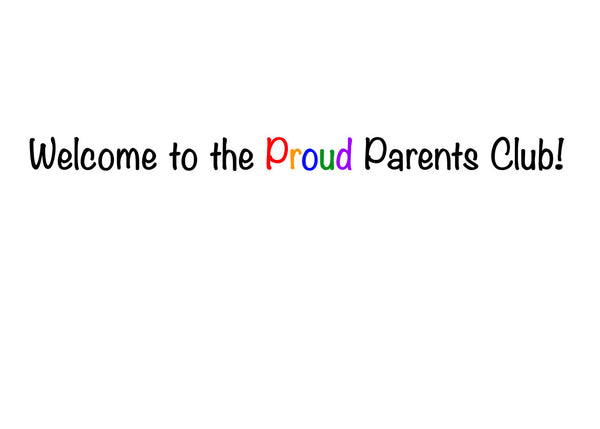 New Baby - Pride Shoes Greeting Card (inside text) | Polycute Gift Shop
