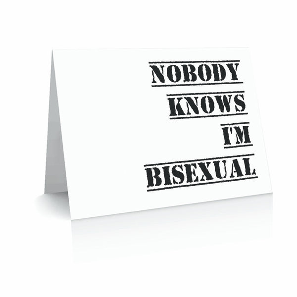 Nobody Knows I'm Bisexual Greeting Card | Polycute Gift Shop