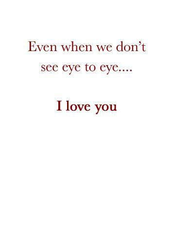 Not Seeing Eye to Eye - FF Greeting Card (inside text) | Polycute Gift Shop