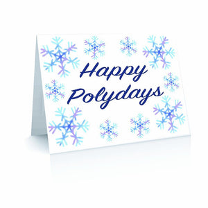 Happy Polydays Snowflakes - Blank Inside (Pack of 10) Greetinng Card | Polycute Gift Shop