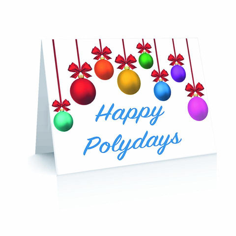 Happy Polydays Ornaments - Blank Inside Greetinng Card | Polycute Gift Shop