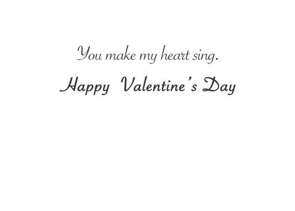 Singing Heart Greeting Card (inside text) | Polycute Gift Shop