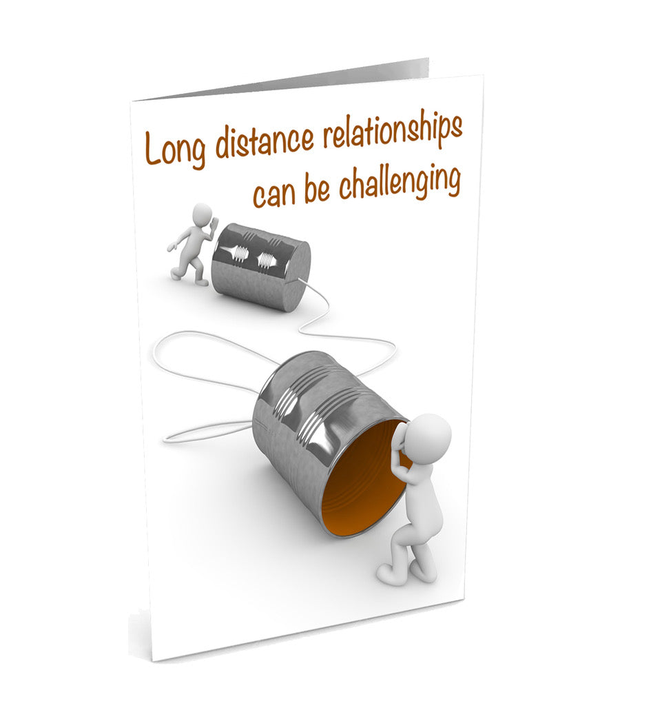 Long Distance - We're Worth It Greetinng Card | Polycute Gift Shop