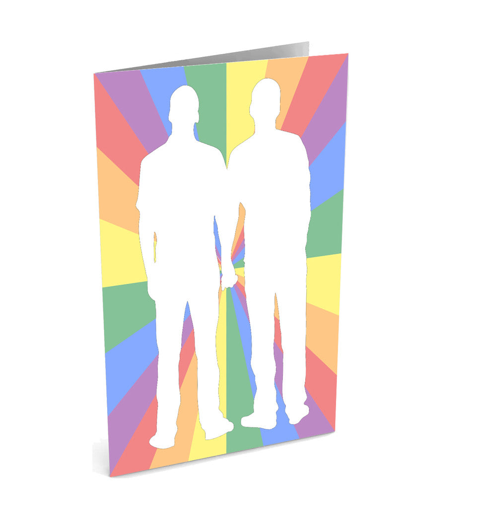 Gay Wedding/Anniversary Greetinng Card | Polycute Gift Shop