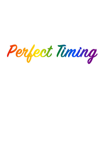 Perfect Timing Greeting Card (inside text) | Polycute Gift Shop